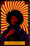 Jimi Hendrix - Psychedelic Stretched Canvas Print