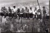 Mittagessen auf einem Wolkenkratzer, ca. 1932 Bedruckte aufgespannte Leinwand
