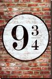 Platform 9 3/4 King's Cross Poster Print Lærredstryk på blindramme