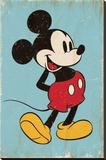 Mickey Mouse - Retro Płótno naciągnięte na blejtram - reprodukcja