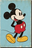 Mickey Mouse - Retro Bedruckte aufgespannte Leinwand