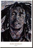 Bob Marley Mosaic Stretched Canvas Print