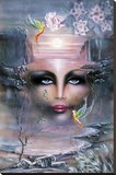 La Vision (Surreal Face) Art Poster Print Stretched Canvas Print