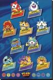 Yo-Kai Watch- Top Ten Stretched Canvas Print