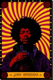 Jimi Hendrix Bedruckte aufgespannte Leinwand