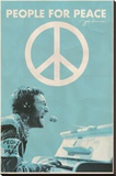 John Lennon - People for Peace Stretched Canvas Print