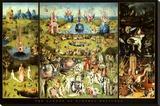 Hieronymus Bosch Garden of Earthly Delights Art Print Poster - Şasili Gerilmiş Tuvale Reprodüksiyon