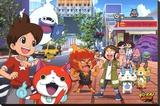 Yo-Kai Watch- On The Street Stretched Canvas Print