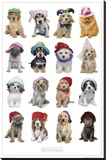 Puppies in Hats Leinwand von Keith Kimberlin