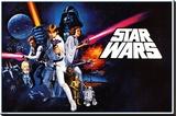 Star Wars - A new hope - Şasili Gerilmiş Tuvale Reprodüksiyon