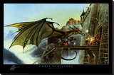 Dragon Spell Stretched Canvas Print by Chris Achilleos