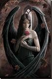 Anne Stokes - Angel Rose - Şasili Gerilmiş Tuvale Reprodüksiyon