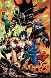 DC Comics Justice League - Charge Reprodukce na plátně