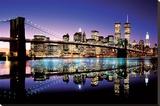 Brooklyn-broen - farvet Lærredstryk på blindramme