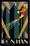 Marvel Deco - Iron Man Stretched Canvas Print
