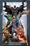 Dc Comics Justice League Group Reprodukce na plátně