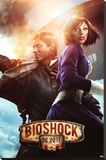 Bioshock Infinite - Booker & Elizabeth Stretched Canvas Print