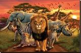 African Kingdom Lærredstryk på blindramme