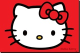 Hello Kitty (Red) Stretched Canvas Print