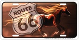 Route 66 Horse Tin Sign