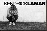 Kendrick Lamar Music Poster Lærredstryk på blindramme