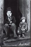 Charlie Chaplin - Şasili Gerilmiş Tuvale Reprodüksiyon