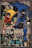 Batman - Comic Montage Lærredstryk på blindramme