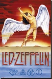 Led Zeppelin - Swan Song Lærredstryk på blindramme