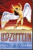 Led Zeppelin - Swan Song - Şasili Gerilmiş Tuvale Reprodüksiyon