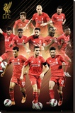 Liverpool- Players 15/16 Stretched Canvas Print