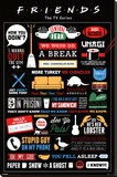 Friends Infographic Lærredstryk på blindramme