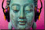 Michael Tarin - buddha music chill Stretched Canvas Print