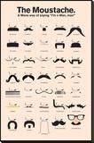 Moustache Lærredstryk på blindramme