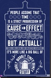 Doctor Who - Wibbly Wobbly Quote Stretched Canvas Print