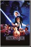 Star Wars Return Of The jedi - Şasili Gerilmiş Tuvale Reprodüksiyon