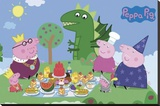 Peppa Pig Stretched Canvas Print
