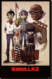 Gorillaz – All Here Stretched Canvas Print
