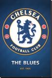Chelsea FC Club Crest Lærredstryk på blindramme