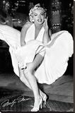 Marilyn Monroe - New York Dress Stretched Canvas Print