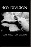 Joy Division - Love Will Tear Us Apart Stretched Canvas Print