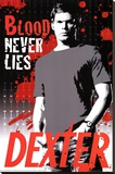 Dexter Blood Never Lies Serial Killer TV Poster Print Stretched Canvas Print