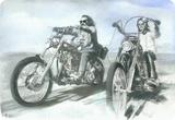 Easy Rider, film avec P. Fonda et D. Hopper, 1969 Plaque en métal