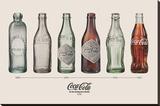 Coca-Cola - Bottle Evolution Płótno naciągnięte na blejtram - reprodukcja