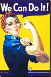 We Can Do It! (Rosie the Riveter) Stretched Canvas Print by J. Howard Miller