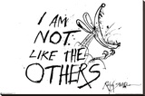 I Am Not Like The Others - Ralph Steadman Stretched Canvas Print