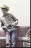Paul Newman on Cadillac Art Print Poster Lærredstryk på blindramme