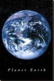 Planet Earth - Şasili Gerilmiş Tuvale Reprodüksiyon
