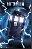 Doctor Who-Tardis- Metallic Poster Stretched Canvas Print