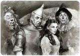 Wizard of Oz Black & White Plechová cedule