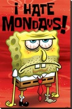 Spongebob (I Hate Mondays) Stretched Canvas Print